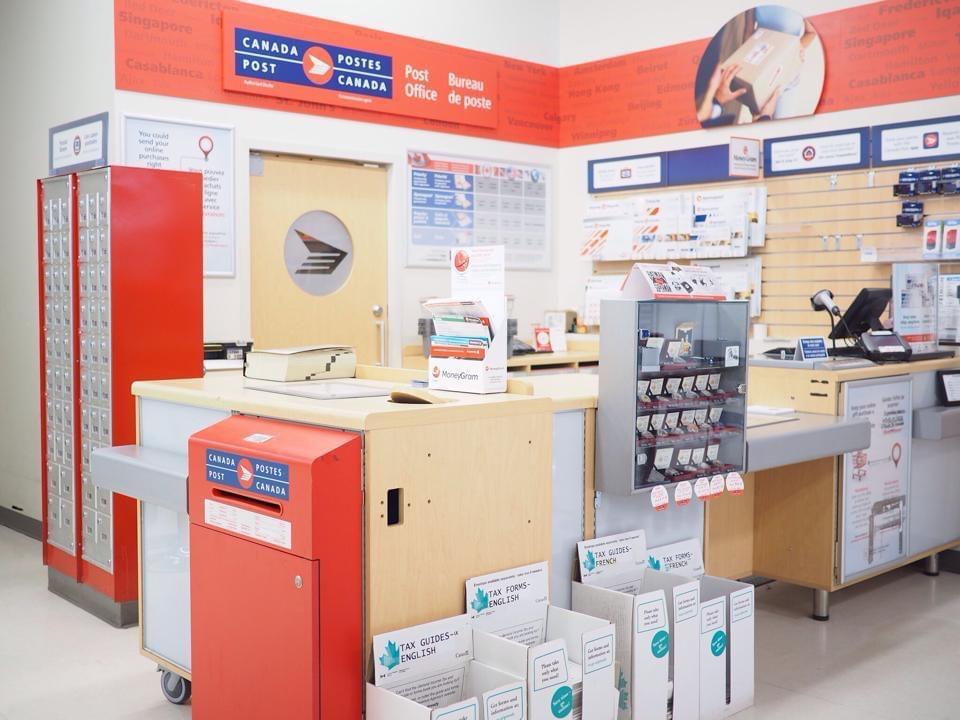 外国の郵便局