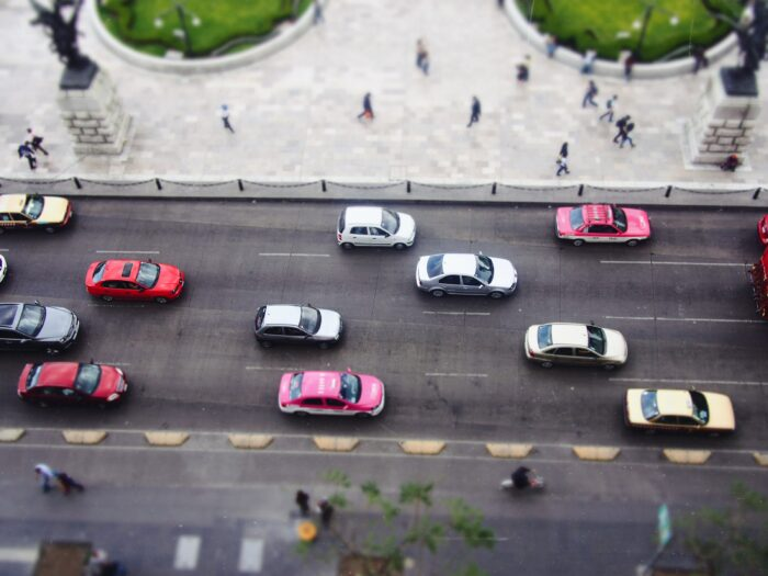 メキシコのピンクの公式タクシー