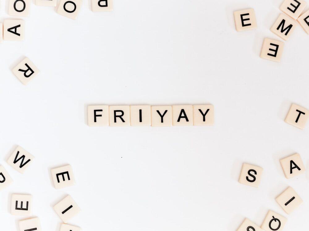 金曜日の文字
