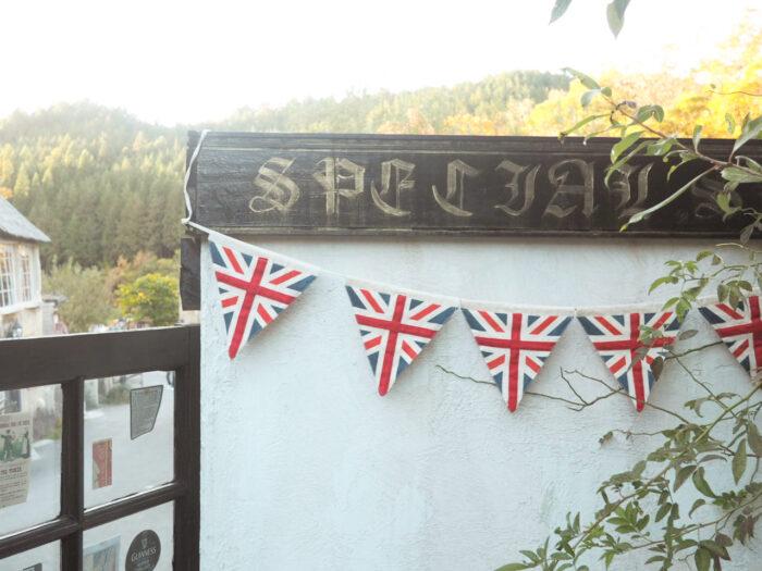ドゥリムトン村のイギリス国旗